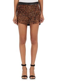 Mason by Michelle Mason Women's Leopard-Print-Calf-Hair Leather Miniskirt
