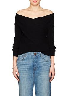 Mason by Michelle Mason Women's Merino Wool-Cashmere Wrap-Front Sweater