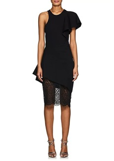 Mason by Michelle Mason Women's Ponte & Lace Midi-Dress