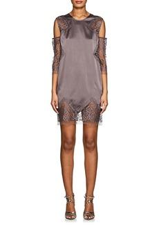 Mason by Michelle Mason Women's Silk Charmeuse & Lace Shift Dress