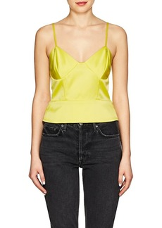 Mason by Michelle Mason Women's Silk Charmeuse Crop Cami