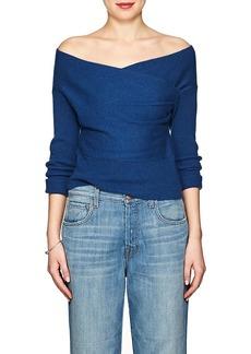 Mason by Michelle Mason Women's Wool-Cashmere Wrap-Front Sweater