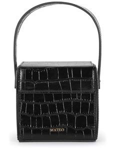 Mateo Catherine croc-effect box bag
