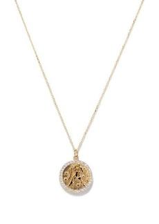 Mateo Aquarius large diamond & 14kt gold zodiac necklace