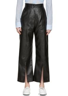 Matériel Tbilisi Black Faux-Leather Slit Trousers