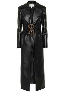 Matériel Tbilisi Double-belted faux-leather coat