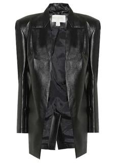 Matériel Tbilisi Faux leather longline blazer