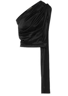 Matériel Tbilisi One-shoulder stretch-silk satin top