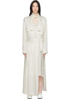 Matériel Tbilisi White Jacquard Pleated Dress