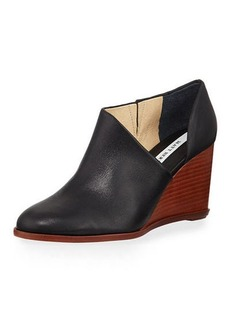 Matt Bernson Edie Leather Half-d'Orsay Wedge Bootie