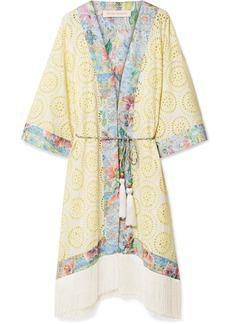 Matthew Williamson Deia Fiesta fringed broderie anglaise kimono