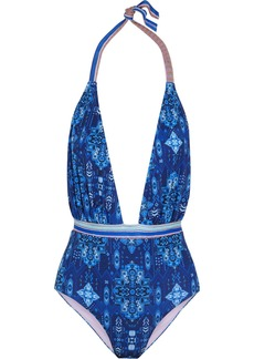 Matthew Williamson Printed Halterneck Swimsuit