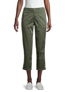 Matty M Folded-Cuff Cropped Pants