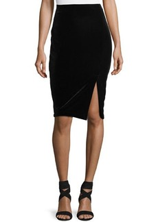 Matty M Velvet Pull-On Pencil Skirt