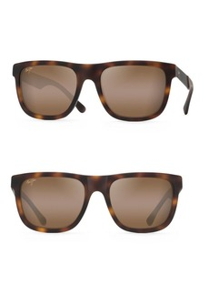 Maui Jim 55MM Talk Story Matte Tokyo Tortoise Sunglasses