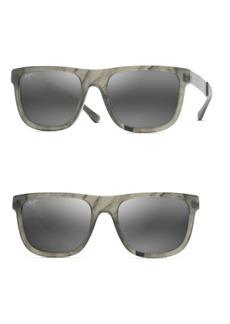 Maui Jim 55MM Talk Story Stormy Grey Sunglasses