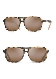 Maui Jim 57MM Little Maks Matte Tokyo Tortoise Rectangular Sunglasses