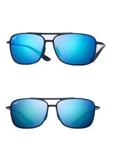 Maui Jim 59MM Red Sands Matte Black Rectangular Sunglasses