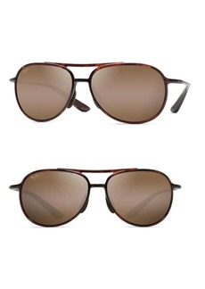 Maui Jim 60MM Alele Bridge Tortoise Aviator Sunglasses