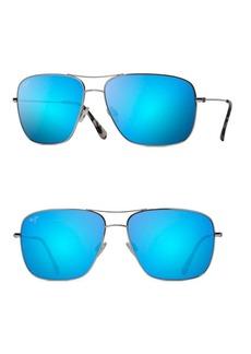 Maui Jim 63MM Cook Pines Titanium Rectangular Sunglasses