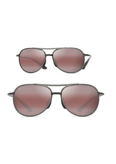 Maui Jim Alelele 60mm Aviator Sunglasses