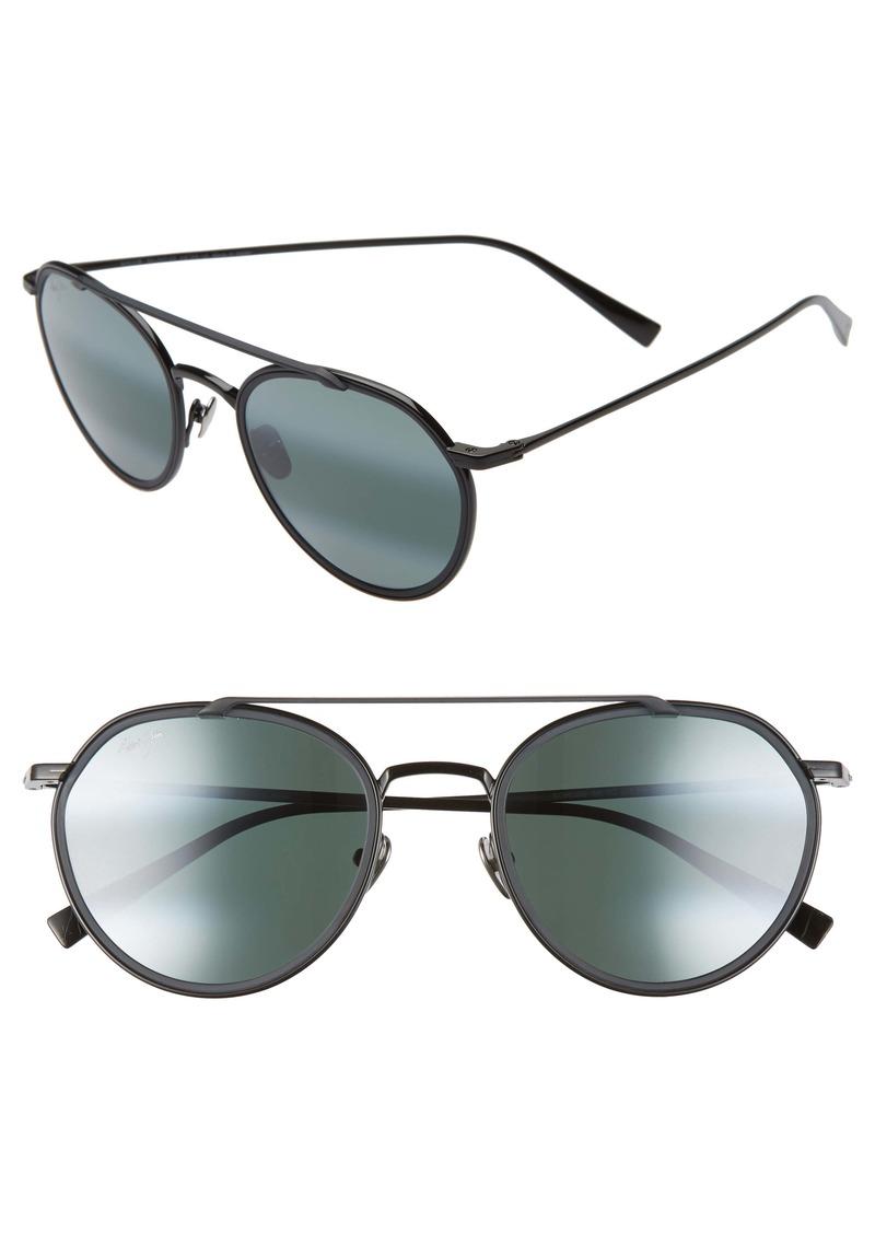 Maui Jim Bowline 53mm Polarized Round Sunglasses