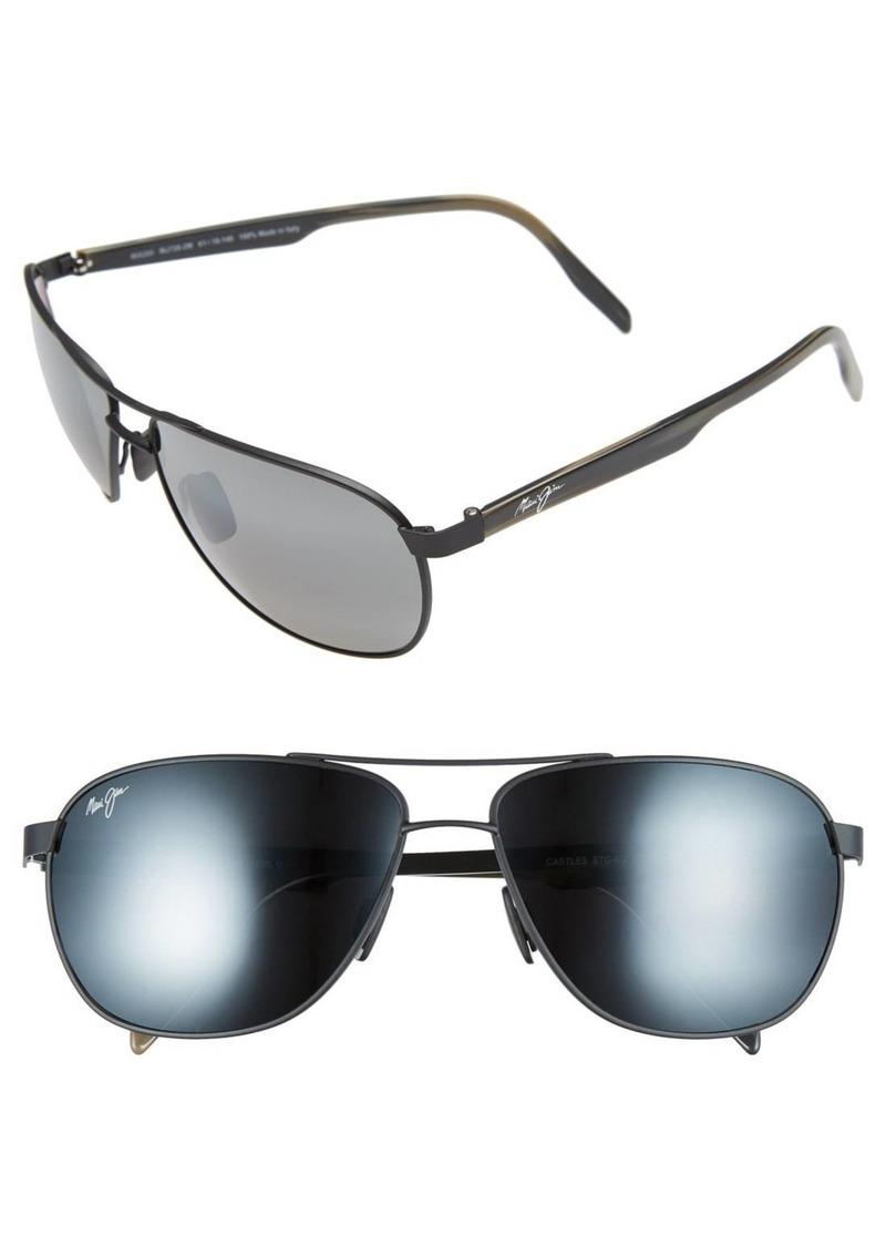 Maui Jim 'Castles - PolarizedPlus®2' 61mm Aviator Sunglasses