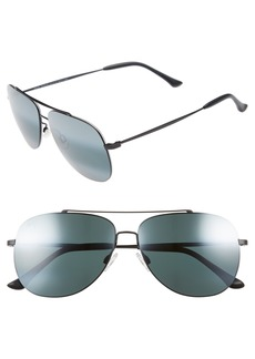 Maui Jim Cinder Cone 58mm PolarizedPlus®2 Aviator Sunglasses