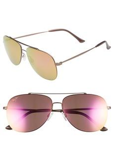 Maui Jim Cinder Cone 58mm PolarizedPlus®2 Aviator Sunglasses