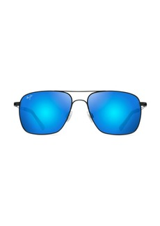 Maui Jim Haleiwa 56MM Aviator Sunglasses