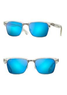 Maui Jim Kawika Crystal 54MM Rectangle Sunglasses
