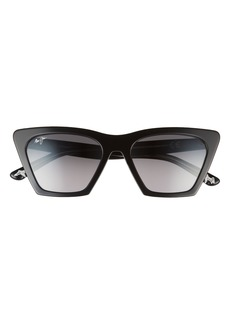 Maui Jim Kini Kini 54mm Gradient Polarized Rectangular Sunglasses
