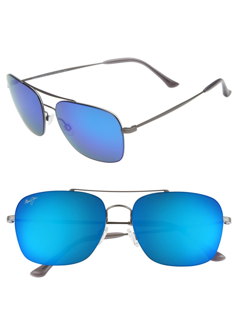df3d4bb6f6a7 Maui Jim Maui Jim Lava Tube 57mm PolarizedPlus2® Aviator Sunglasses ...