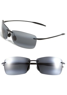 Maui Jim Lighthouse 65mm PolarizedPlus2® Oversize Rimless Sunglasses