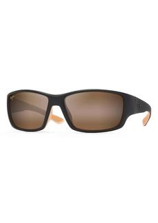 Maui Jim Local Kine 61mm Polarized Wraparound Sunglasses