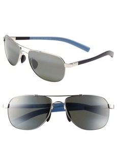 Maui Jim 'Maui Flex - PolarizedPlus®2' 56mm Aviator Sunglasses