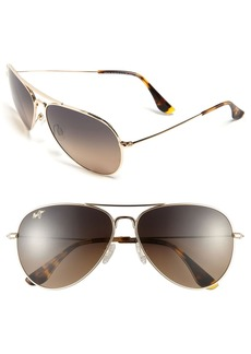 Maui Jim Mavericks 61mm PolarizedPlus2® Aviator Sunglasses