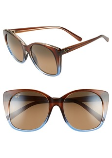 Maui Jim Mele 55mm PolarizedPlus2® Round Cat Eye Sunglasses
