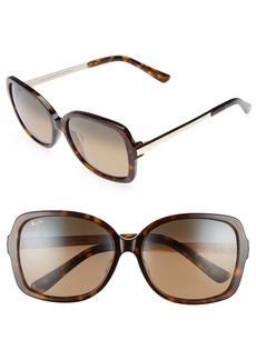 Maui Jim Melika 58mm PolarizedPlus2® Square Sunglasses