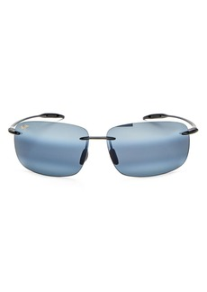 Maui Jim Men's Breakwall Polarized Rectangle Sunglasses, 63mm