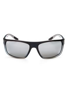 Maui Jim Men's Byron Bay Polarized Mirrored Wrap Sunglasses, 62mm