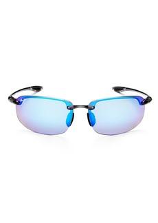 Maui Jim Men's Ho'Okipa Polarized Mirrored Wrap Sunglasses, 64mm