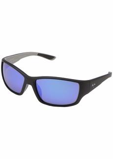 Maui Jim Men's Not assigned Polarized Sport Sunglasses Soft Black/Sea Blue/Grey