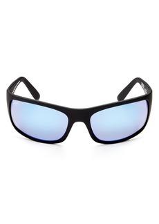Maui Jim Men's Peahi Polarized Mirrored Wrap Sunglasses, 65mm