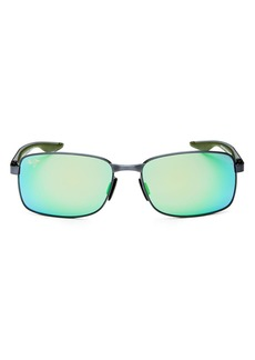 Maui Jim Men's Shoal Polarized Mirrored Square Sunglasses, 57mm