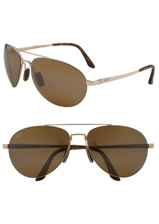 Maui Jim 'Pilot - PolarizedPlus®2' 63mm Sunglasses