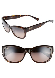 Maui Jim Plumeria 55mm PolarizedPlus2® Cat Eye Sunglasses