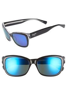 Maui Jim Plumeria 55mm PolarizedPlus2® Cat Eye Sunglasses