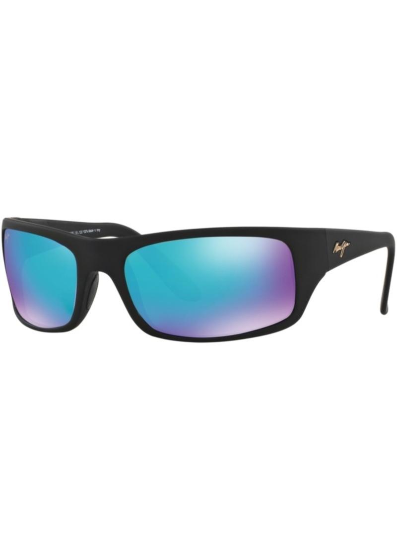 Maui Jim Peahi Polarized Sunglasses, 202 Blue Hawaii Collection