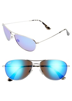 Maui Jim Sea House 60mm PolarizedPlus2® Titanium Aviator Sunglasses